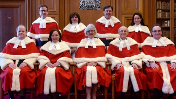 Nova Scotian Thomas Cromwell, seated far left, will retire this year and the federal government will have to replace the vacancy.