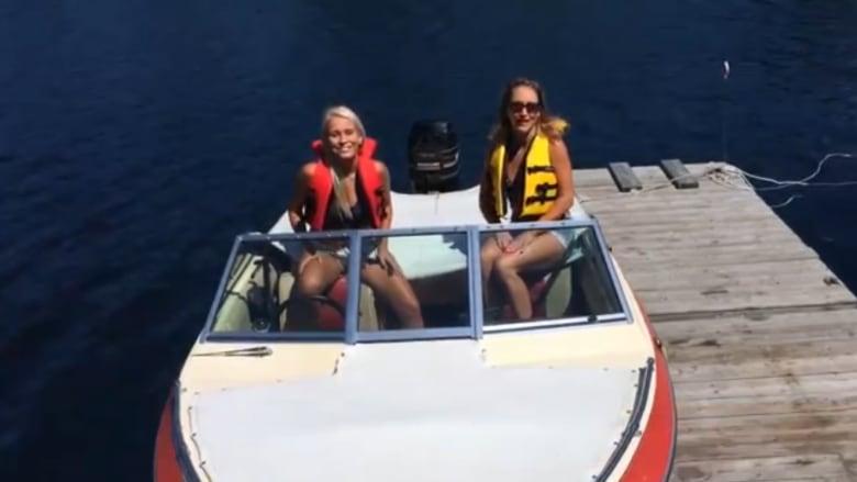 Women having sex on boats