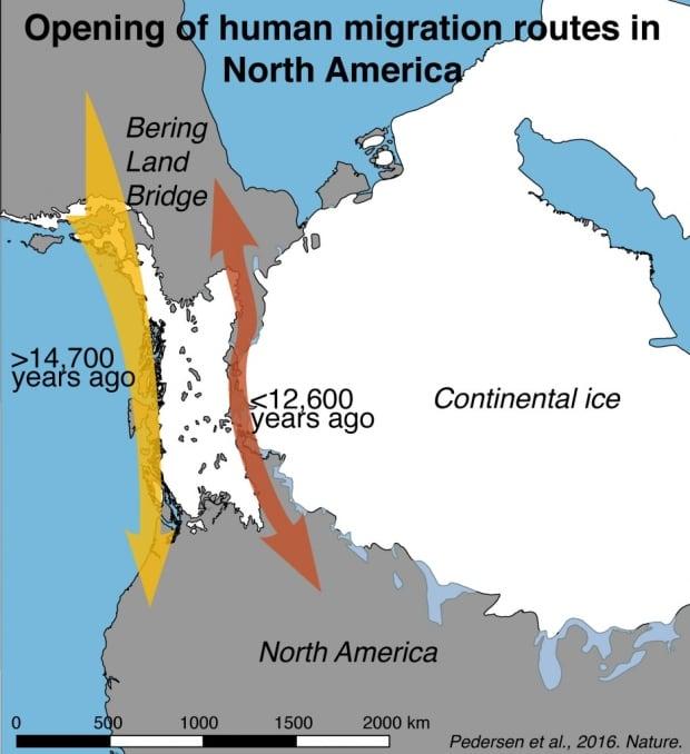 Map human migration routes