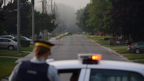Strathroy Ontario police scene