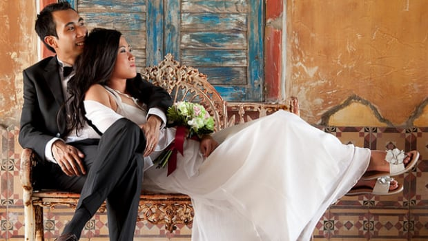 Kristy Shen and Bryce Leung when they married in 2010.