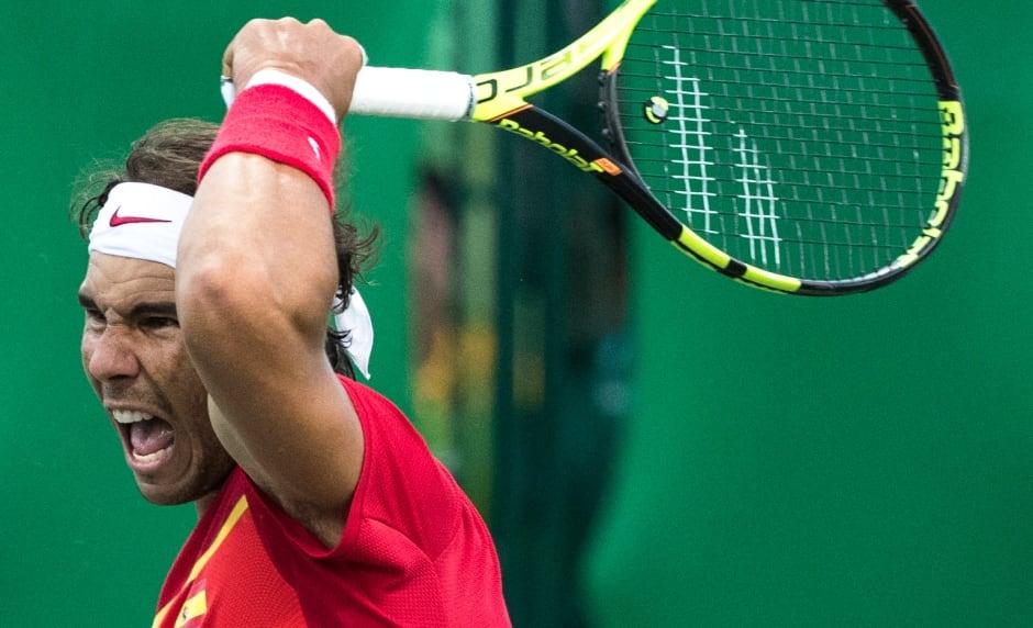 rio olympics day 6 aug 11 2016 Nestor Pospisil v Nadal Lopez