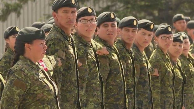 Indigenous youth recruits from all over Western Canada graduate from the six-week Bold Eagle basic training course in Wainwright, Alta.