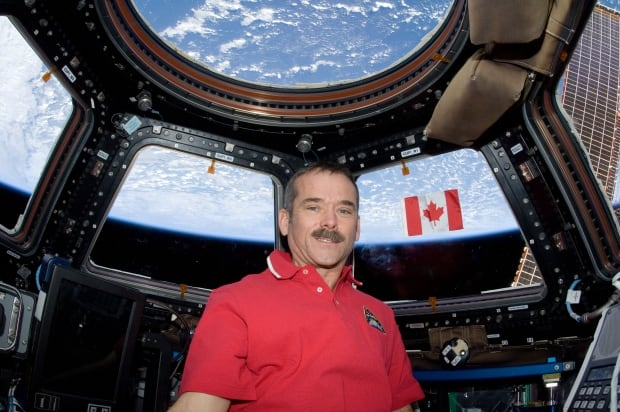Chris Hadfield in orbit