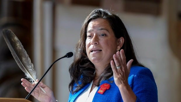 Justice Minister Jody Wilson-Raybould says she is in favour of taking a restorative approach to justice during a speech at a Canadian Bar Association conference in Ottawa.