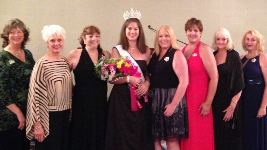 Miss Tall International 2016 Lauren Bath, centre, stands with Miss Tall International winners of years past.