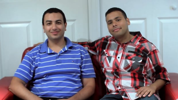 Peter Francis, left, and Mina Michail are the computer engineers and best friends who co-founded Help Me Order, an app to help indecisive diners pick a meal.