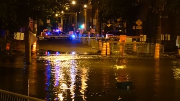 This is the second water main break in Saint-Henri in less than a week.
