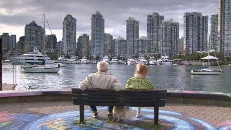 Seniors on a bench.