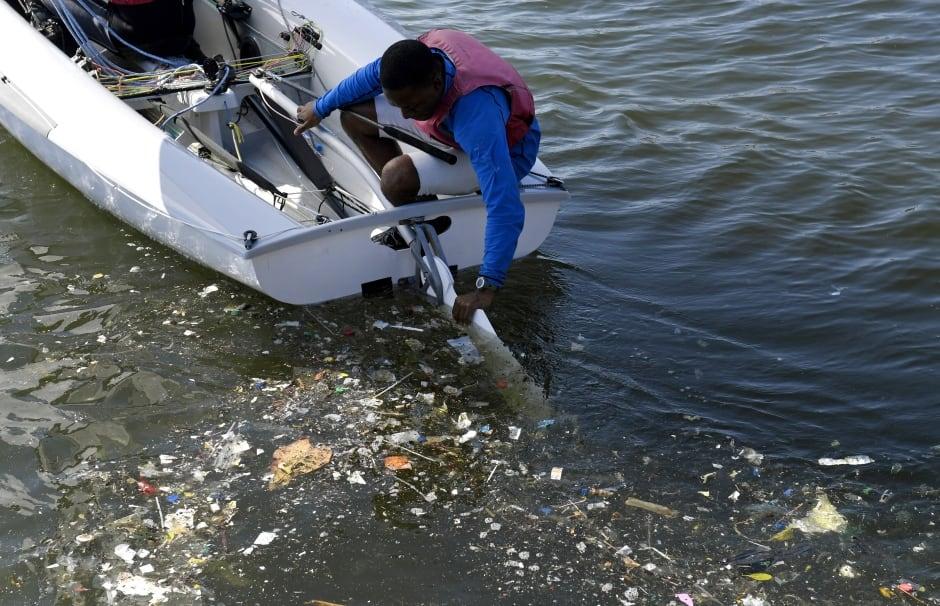 Rio Olympics — Guanabara Bay Waste — Aug. 1, 2016