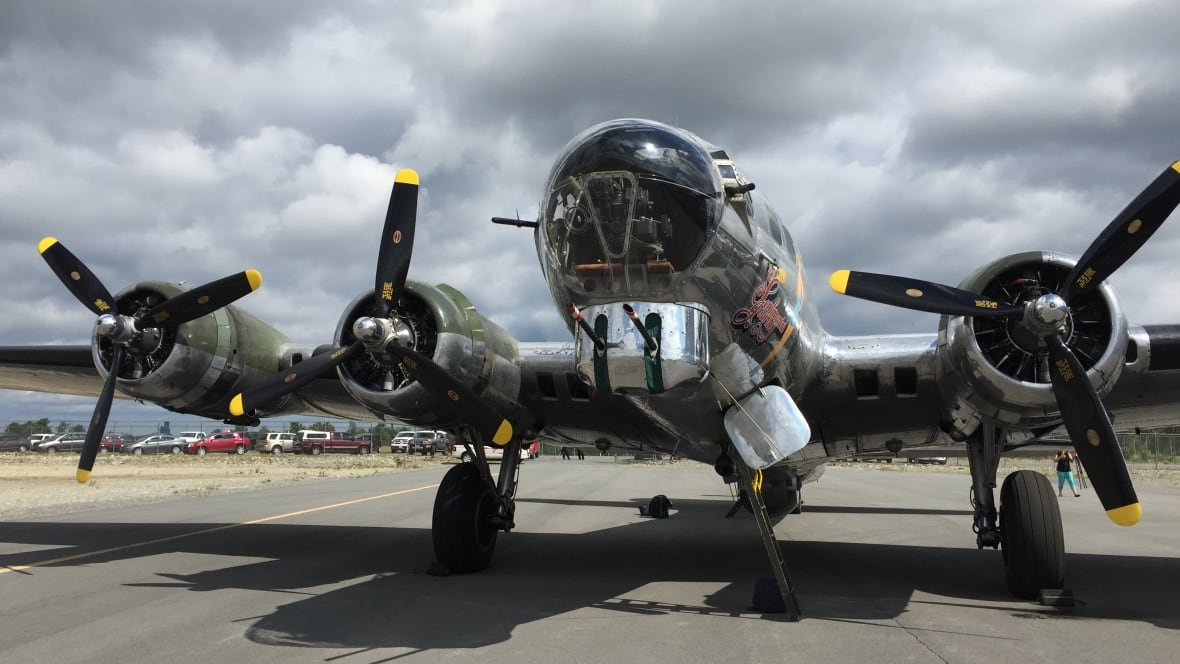 One of the last B-17 bombers in Sudbury this week ...