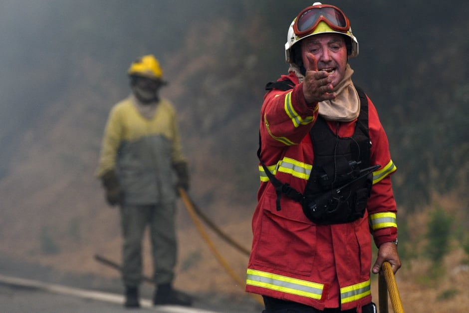 PORTUGAL FOREST FIRES firefighter