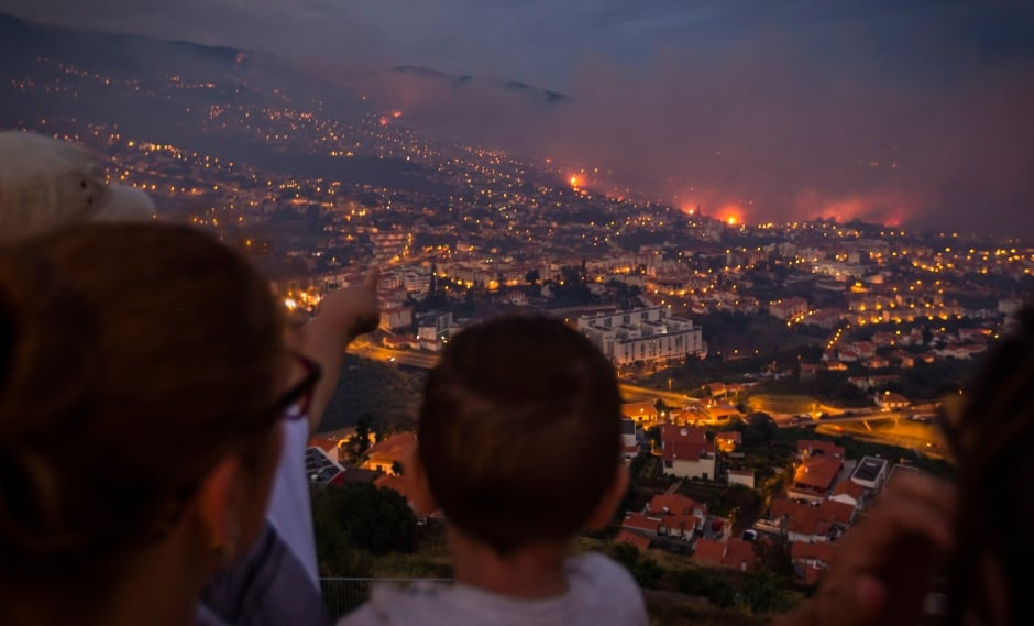 PORTUGAL MADEIRA ISLAND FIRE wildfires evacuation