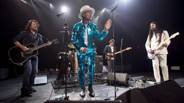 The Tragically Hip, seen here performing in Vancouver, B.C., as part of their Man Machine Poem tour, will play Kingston, Ont. this Saturday.