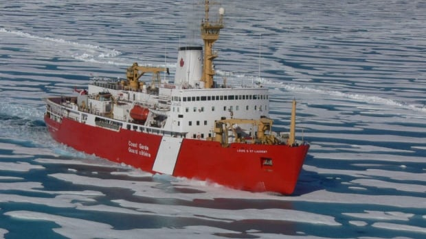 The Canadian Coast Guard ship Louis S. St-Laurent is the base for researchers mapping the Arctic Ocean, especially the seafloor over the continental shelf.