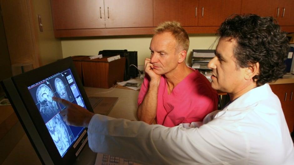 Daniel Levitin shows Sting his cerebellum.