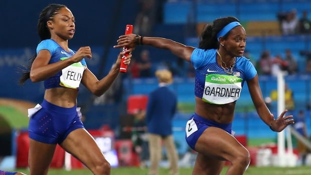 United States Powers To Gold In Women S 4x100 Relay Cbc