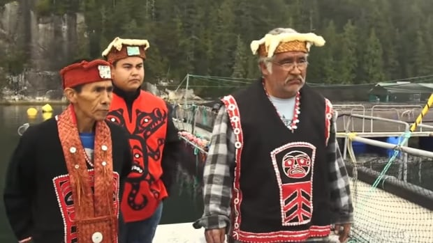 Three hereditary chiefs of the Musgamagw Dzawada'enuxw issued the eviction notice to a fish farm on the north end of Vancouver Island this week.