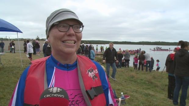 First time racer and recent breast cancer survivor Colleen Field says her fellow rowers motivated her to get outside — despite not being 'a sports person.'