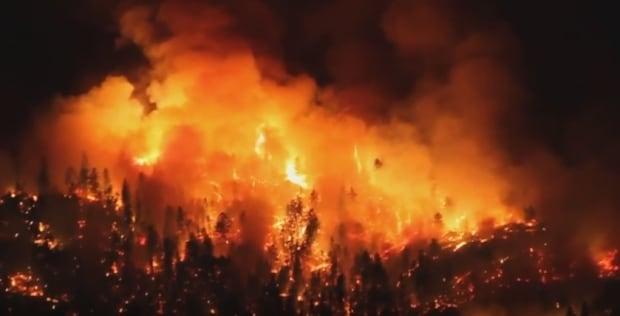 Bear Creek wildfire youtube video still triple7baby