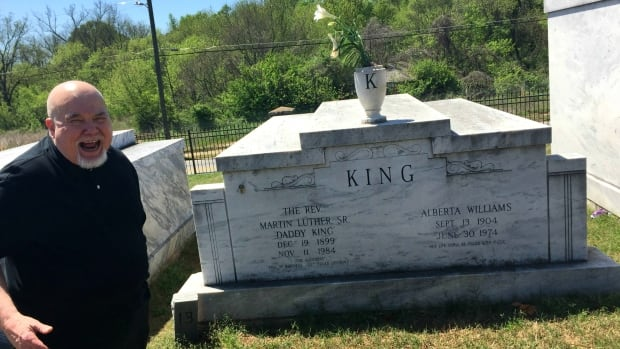 Tom Houck at MLK's original burial site