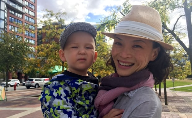 Wendy Xiang and her 2-year-old son Felix