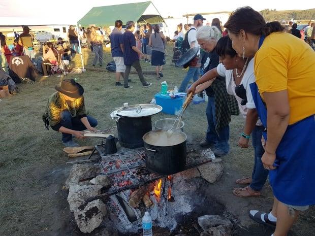 Standing Rock camp kitchen