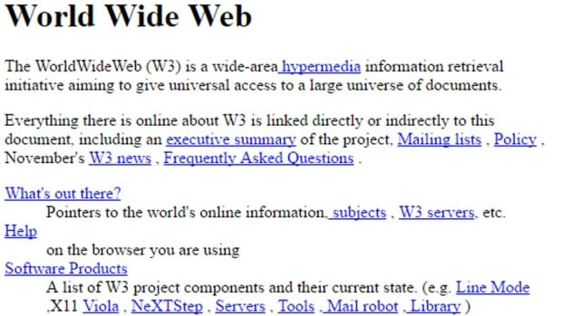 Check out the world's 1st web page, from 25 years ago, on