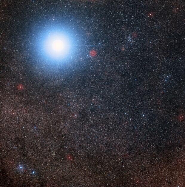 Bright star Alpha Centauri AB red dwarf star Proxima Centauri