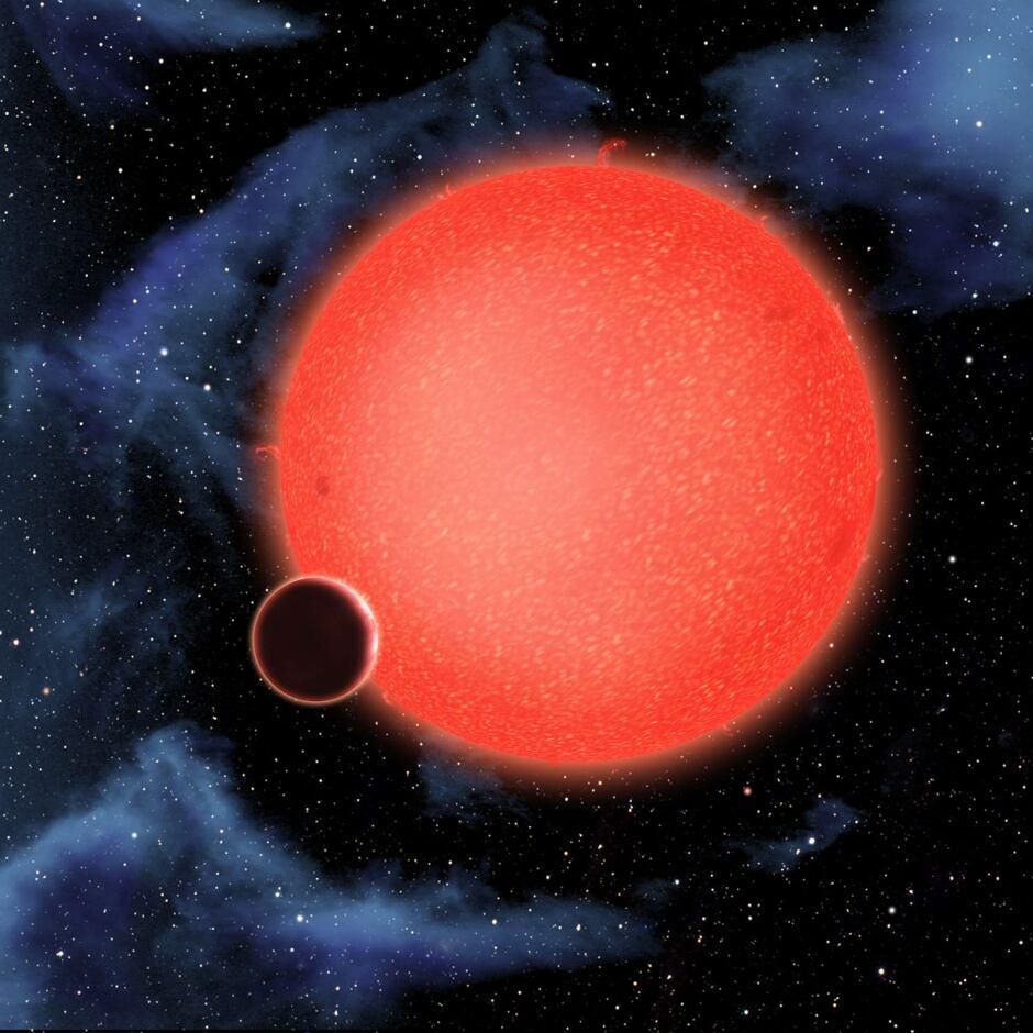 waterworld GJ 1214b orbiting red dwarf