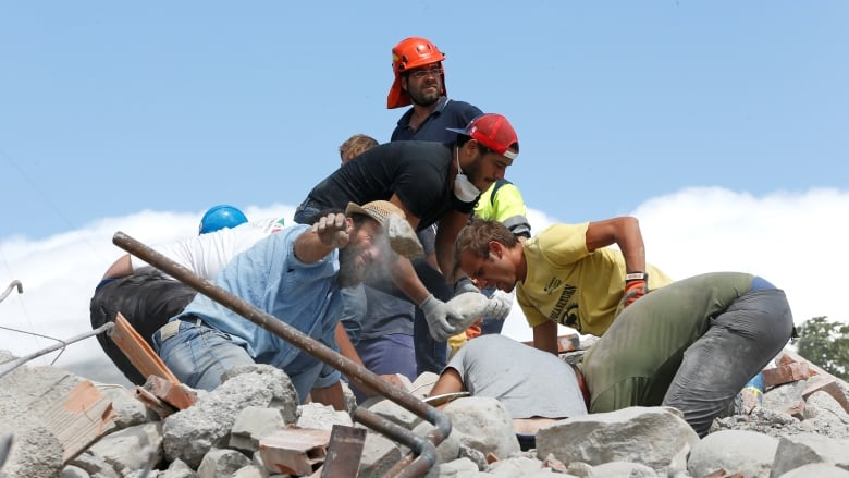 Kaos helped rescue quake survivors. His poisoning has unsettled Italy