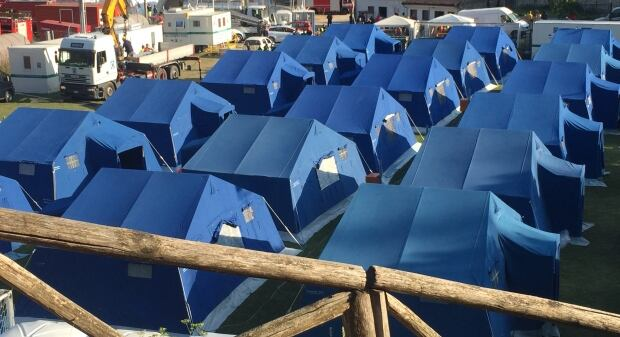 Italy tent city