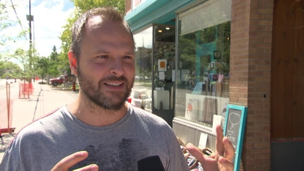 Gabriel Houle owns the Café Qui Pense on Main Street