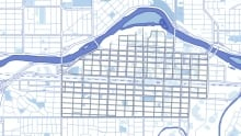 Calgary is crooked map
