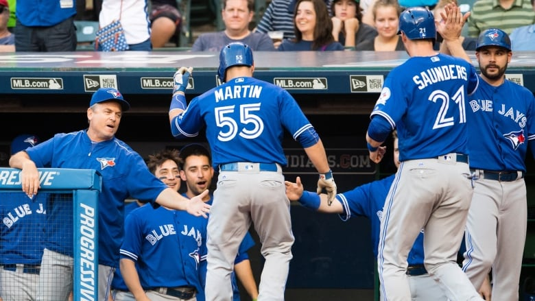 daf0e1022f5 The Toronto Blue Jays are currently two games ahead of the Boston Red Sox  and four games ahead of the Baltimore Orioles for the AL East division lead  with ...