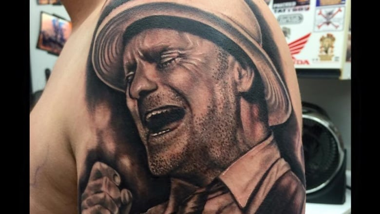 Lively Tattoo Artist Inks Gord Downie Tragically Hip Homage For
