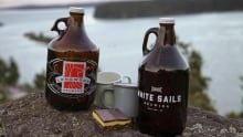 Comox Valley beer growlers