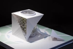 Cube design green planet