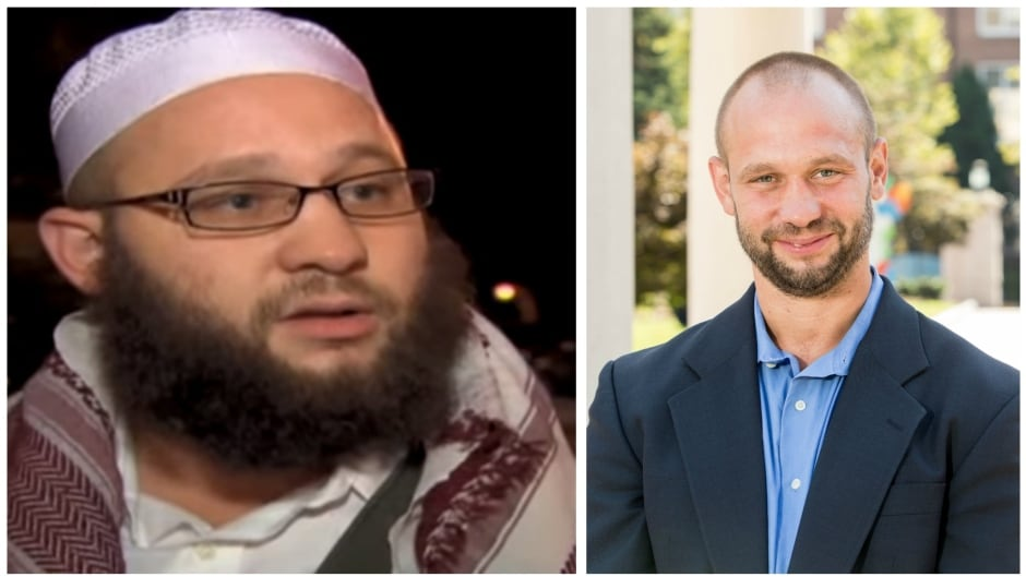 A photo, left, of Jesse Morton in 2009, when he went by the name Younus Abdullah Muhammed. Now, Jesse Morton is a former al-Qaeda recruiter, working to counter Islamic extremism through his work as a research fellow with George Washington University.
