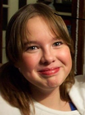 Georgie-Lyn Crotty, nine, before drug addiction