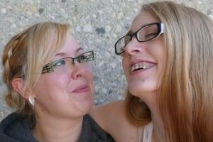 Georgie-Lyn Crotty and best friend Sara Daher