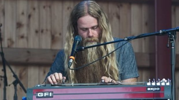"Mitch Jay, the ""purveyor of tasty licks, and vast quantities of voluptuous facial hair,"" is nominated for a CCMA for best steel guitar player."