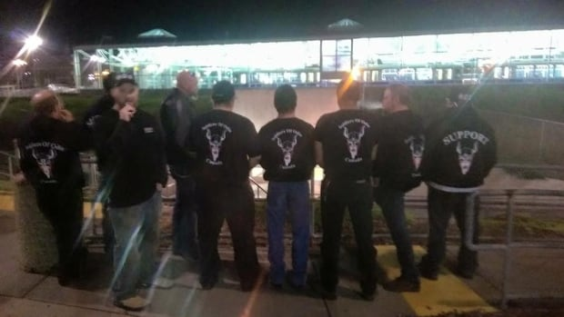 Brian Curry, a man who purports to be the Soldiers of Odin Edmonton chapter's vice-president, posted this photo on Aug. 28 with the caption 'out on a walk-about last night.'
