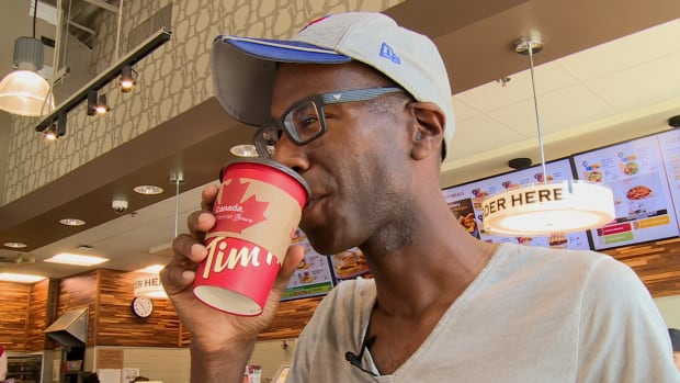 Paul Stewart savours his first sip of the day at a Toronto Tim Hortons. Out of 80 countries, Canada ranked number 1 when tallying up how many litres of coffee per capita we gulped down at food service joints like cafes.