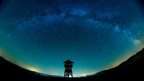 Milky Way galaxy lookout tower SLOVAKIA NATURE