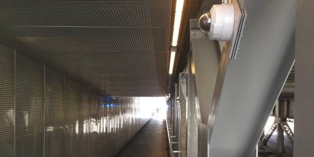 Camera in bridge underpass