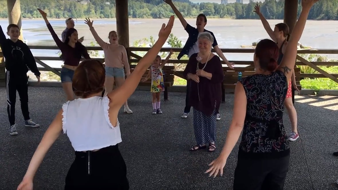 Surprise birthday flashmob for B.C. granny who wished life ...