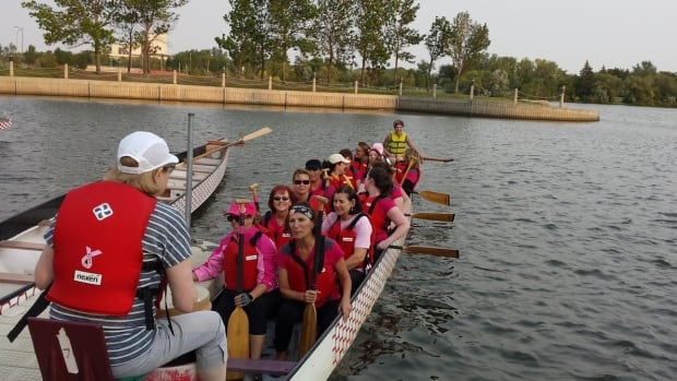Team Papetista hits Wascana Lake for the 25th Annual Regina Dragon Boat Festival.