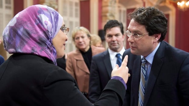 Bernard Drainville, the PQ minister who tabled the charter of values in 2013, during legislative hearings. The charter died on the order paper before the 2014 election.