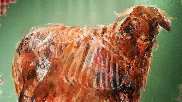 A painting by Syrian artist Khaled Al Hamw.